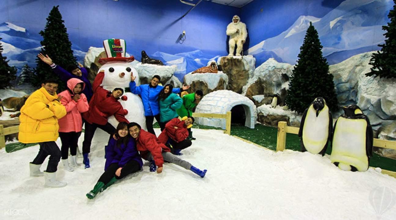 เมืองหิมะ สวนสนุกดรีมเวิลด์ กรุงเทพฯ
